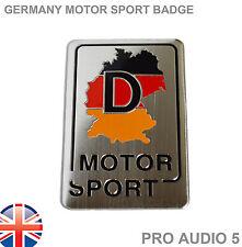 Bandera de Alemania Deporte del Motor Placa De Coche Placa-Alemán M AUDI VW Insignia Coche Camión Van-Reino Unido