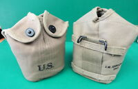 US ARMY AIRBORNE KHAKI CANTEEN COVER 1943