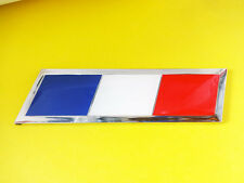 Enamel Chrome FRENCH FLAG Car Badge FRANCE Peugeot Citroen