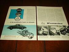 1957 PORSCHE 1600 SPORTS CAR   ***ORIGINAL VINTAGE ARTICLE***