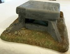 WWII 54 mm CONCRETE GERMAN BUNKER 2 PIECE CAST FOAM ATHERTON SCENICS (#9909)
