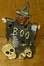 """HALLOWEEN #J4404B BOO WITCH FIGURINE that lights up, NEW From Retail Store, 7"""""""