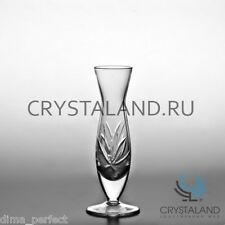 "Elegant Crystal Flower Mini VASE ""Lotos""  6,5"" Hand made Russian HQ 100% cheap"
