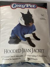 New listing Cozy Pet Hooded Blue Jean Dog Jacket Size M