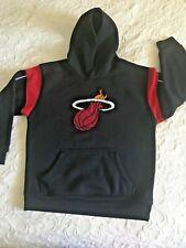 Miami Heat Youth Kids M-8 NBA Official  Hooded Sweatshirt Black Red Retro Logo