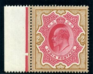 India 1902 KEVII 2r rose-red & yellow-brown MLH. SG 138. Sc 71.