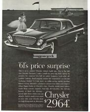 1961 Chrysler Newport 2-door Coupe Bi-Plane Vtg Print Ad