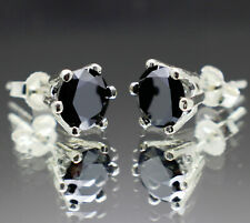1.30 to 3.50tcw Real Natural Black Diamond Earrings Silver or Gold & $850 Value+