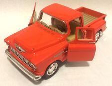 Kinsmart 1955 Chevy Stepside 3100 Pick up truck 1:32 scale model orange
