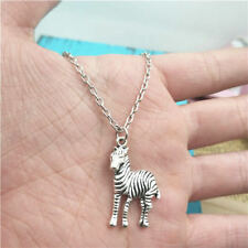 Zebra animal silver Necklace pendants fashion accessory,creative jewelry Gifts