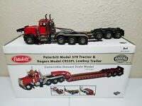 Peterbilt 379 w/ Rogers 3-Axle Lowboy (Red/Black) TWH DHS 1:50 #DHS0100-R New!