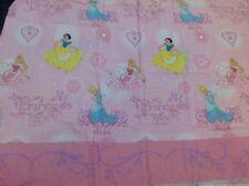 Disney Princess Twin Flat Sheet Fabric Craft Material Pink Cinderella Belle Pink