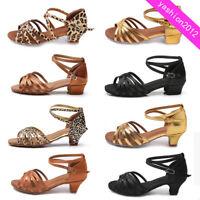 3.5CM/4CM Women Children Girl's Ballroom Latin Tango Dance Shoes heeled Salsa