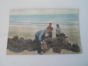 Cromer Fishermen + Crab Pots - Vintage Harrolds Series Postcard §ZD990