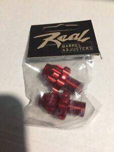 REAL Brake Lever Barrel Adjuster 10 mm Anodized RED, Vintage, NOS