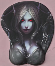 Game WOW  World of Warcraft Sylvanas Windrunner Computer 3D Big Bust Mouse Pad