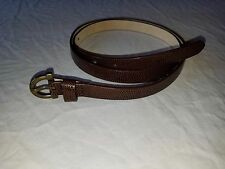 Vintage Coldwater Creek Leather Brown Women's Belt Size Medium