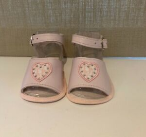 Baby Dior Pink Leather First Shoes Sandals Diamante Heart Size UK1.5 US1.5 EU18