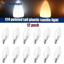 12/6pcs E14 LED Candle Bulb Lamp Light 220V/110V LED Chandelier Home Decoration