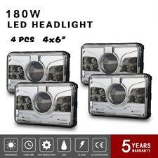"4x 4x6"" LED Headlight Rectangle Sealed Beam DOT DRL H4 for Kenworth Peterbilt"