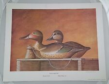 Green Winged Teal Mason Duck Decoy Print Signed Numbered Philip Richard Stock