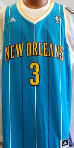 New Chris Paul New Orleans Hornets Teal 2XL Adidas  Throwback Jersey