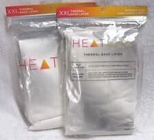 HeatLite Women's Missy Long Sleeve V-Neck Shirt White Size XXL New Thermal Base