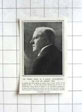 1917 Sudden Death Of Famous Actor Manager, Sir Herbert Tree