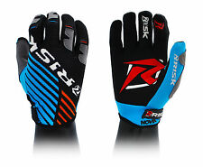 Risk Racing Ventilate Gloves Motocross ALL SIZES Blue / Orange Enduro MTB BMX