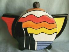 LARGE LORNA BAILEY  ART DECO STYLE TEAPOT.. OLD ELLGREAVE, MINT CONDITION