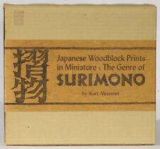 Surimono miniature ukiyo-e woodblock prints 1970 Tuttle edition Kurt Meissner