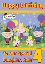 BEN AND HOLLY PERSONALISED BIRTHDAY CARD - ANY NAME AGE RELATION