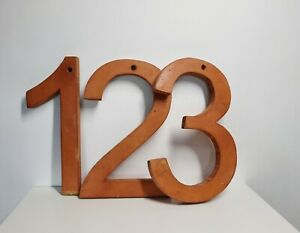 Vintage Wooden Teaching Aids Numbers Home Decor Reclaimed Retro Ornament Wood