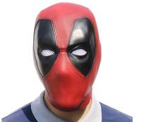 Deadpool Mask Cosplay Movie Full Face Latex Halloween Cosplay Prop Hood Helmet