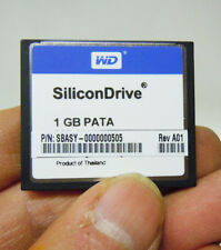 WD SiliconDrive 1GB PATA CF Compact Flash Card Industrial SSD-C01G-3500