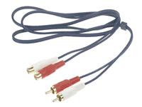 Câble 2 RCA Mâle vers 2 RCA Femelle Longueur 10 Métres Fiches Surmoulées Dorées