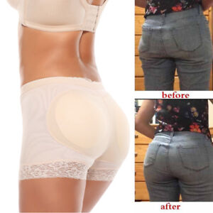 Women Seamless Butt Lifter Padded Hip Enhancer Body Shaper Pants Lace Underwear