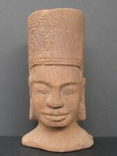 Große Kopf- Khmer IN Sandstein Aus Kambodscha, Harihara