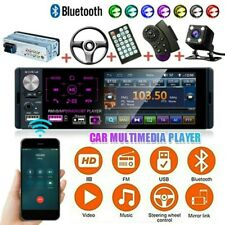 "4.1"" 1DIN MP5 Player HD Car Stereo Radio Touch Screen Microphone +Rear Camera US"