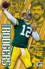 New AARON RODGERS Green Bay Packers QB 2017 NFL Action POSTER