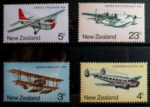 1974 New Zealand Full Set Of 4 Stamps - New Zealand Airmail Transport - MNH