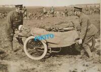 WW1 WWI GUERRE  France  SOMME 14/18  Motorcycle MOTORADE AMBULANCE HOPITAL KRIEG