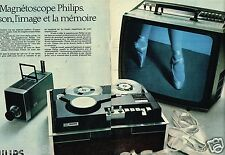 Publicité advertising 1970 (2 pages) Magnetoscope Philips téléviseur