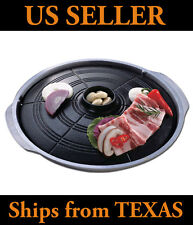 Korean BBQ Grill Pan, Stovetop, Tabletop BBQ, Indoor Barbecue, Gamasot Grill Pan