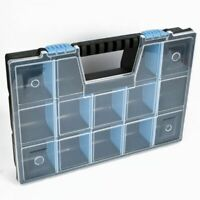 "DIY Storage Organiser Case 15"" Unit Tools Parts Craft Box Stationary Cabinet"