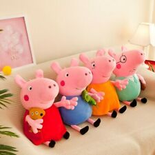 "10""-12"" SET OF 4 Peppa Pig Family Soft Stuffed Plush Dolls Kid Toy high quality"