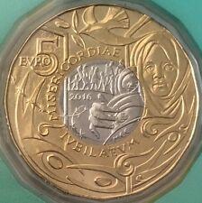 """5 Euro Gedenkmünze San Marino """"Jahr der Barmherzigkeit"""" 2016 BU in Coincard"""