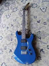 1980s Kramer XLII Electric Guitar humbuckers tremolo OPAQUE BLUE FINISH