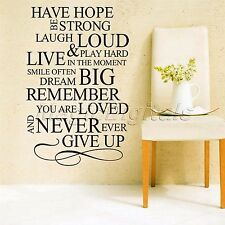 Have Hope Be Strong Quote Words Art Letters Wall Decal Sticker Home Decor Mural