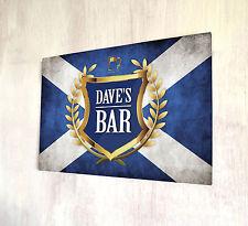 Cresta d'oro personalizzata bandiera scozzese etichetta BIRRA Cartello Targa In Metallo a4